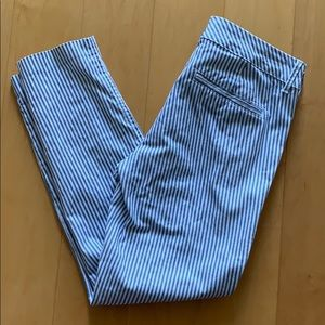 Blue and White Stripped Pants
